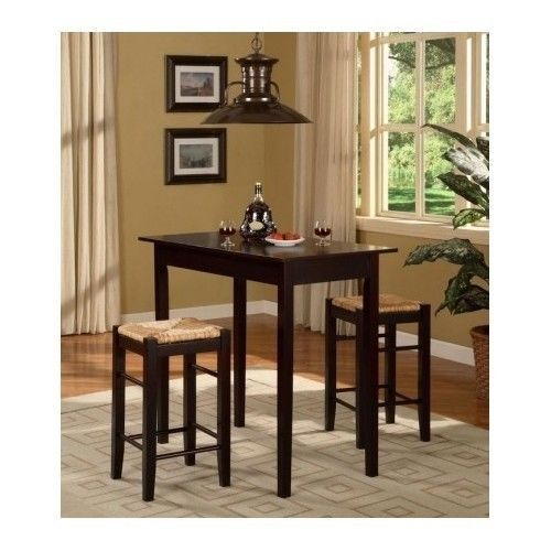 kitchen dinette set small counter height dining table breakfast nook bar stools