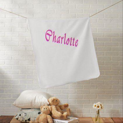 Best 25 charlotte name ideas on pinterest name in nursery charlotte girls name logo swaddle blanket negle Gallery