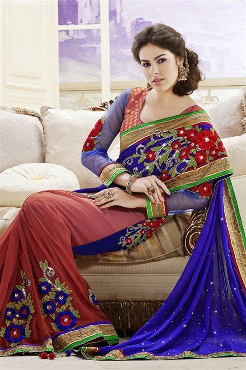 Designer Embroidered Party Wear Saree