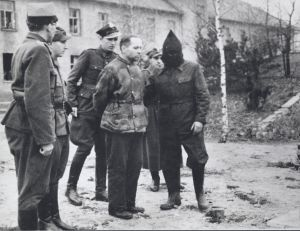 At the end of March 1947, Höss was sentenced to death by a Polish military tribunal.    The execution was carried out on 7 April 1947, next to the house inside the Auschwitz camp, where he had lived with his wife and five children, and where he had sent millions of innocent men, women and children to their deaths.