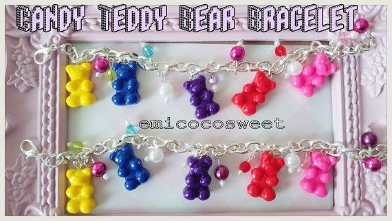Gummy bear Braceletkawaii BraceletFood by emicocosweet on Etsy