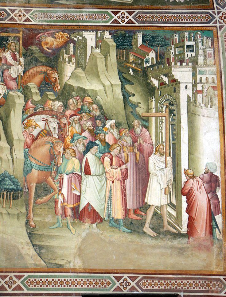 Cenni di francesco, cappella della croce di giorno, 1410, decapitazione di cosroè e eraclio che rientra a gerisalemme con la croce 04.JPG