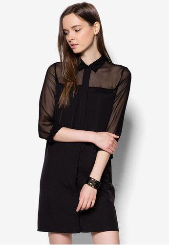 Panel Shirt Dress