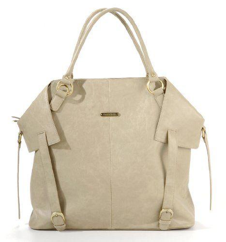 timi & leslie Charlie 7-Piece Diaper Bag Set, Light Brown