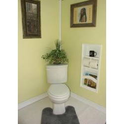 overstock recessed in the wall magazine rack double toilet paper holder and shelf