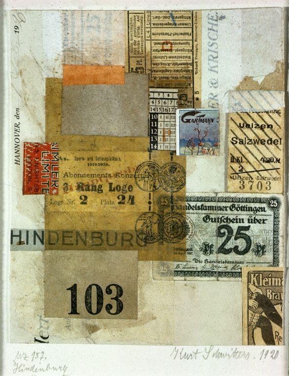 Hindenberg (Merzzeichnug 157) - Kurt Schwitters, 1920