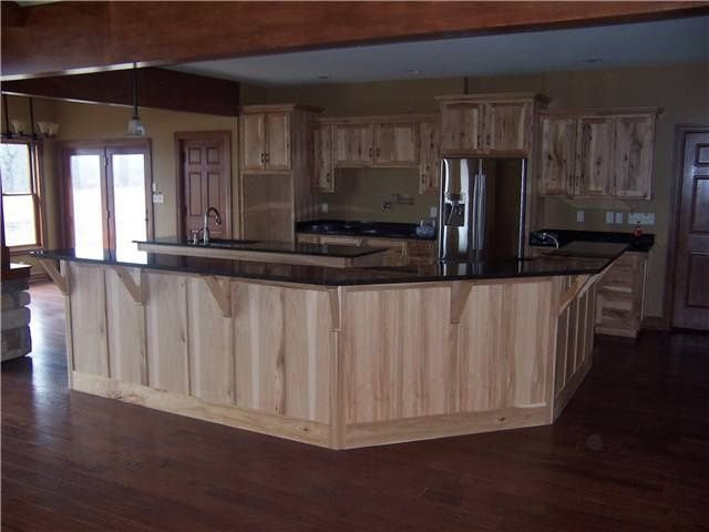 Dark Wood Floor Dark Wood Counter Wood Cabinets Google Search Building Kitchen Hickory