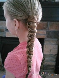 Little Girl's Hairstyles: How to do a Chinese Staircase Braided Ponytail