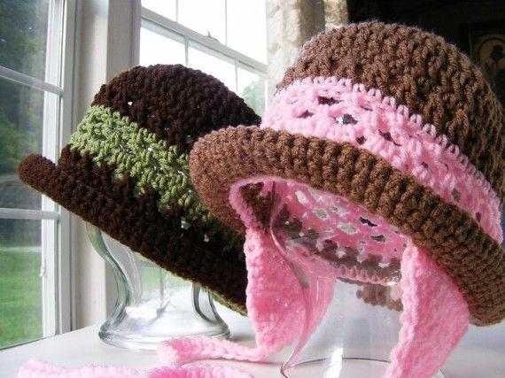 Crochet Hat Patterns - Childs Earflap Hat Pattern - Womans Crochet Hat Pattern with Rolled Brim 12 mo thru Adult Instant DownloadNo.24