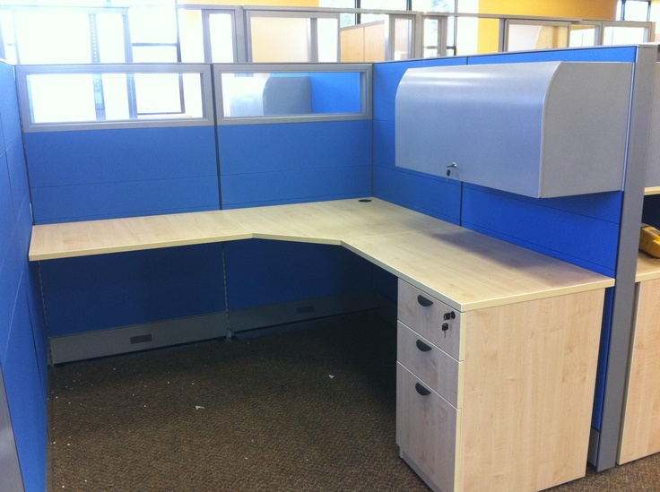 Shire Cubicle 54 H Low Overhead File Cabinets