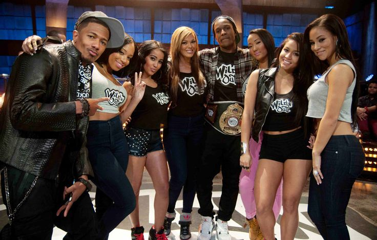 wild 'n out | Nick, ASAP and the 'Wild 'N Out' girls pose after the show.