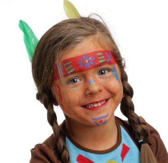 Carnaval niños: fotos maquillaje disfraz de indio