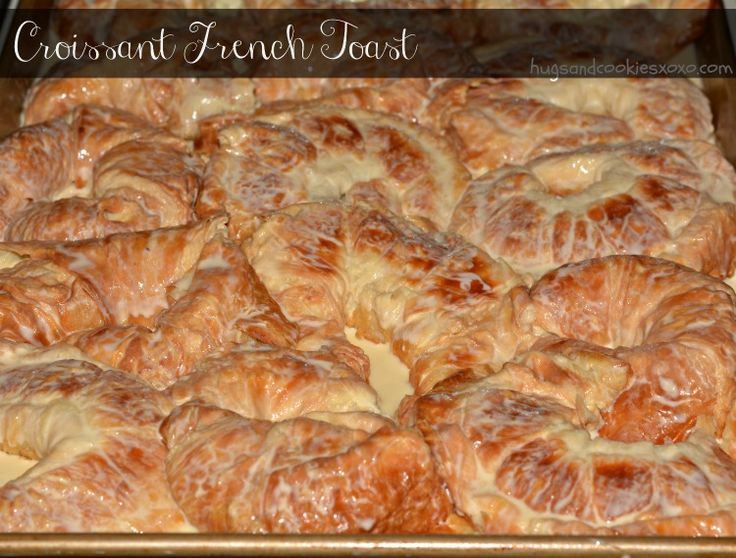 This is pretty much the best brunch you can ever make for your guests!!!! You'll Need: 10 x 15 jellyroll pan  Print Croissant French Toast  AUNT ARLENE'S FAMOUS FRENCH TOAST Ingredients 12 JUMBO CROISSANTS SLICED IN HALF, FROM COSTCO IF YOU LOVE NEAR ONE MAKE CUSTARD: 8 EGGS 1½C. MILK 1½C. HEAVY CREAM …