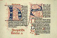 Paris - Bibl. Mazarine - inc. 0286    f. 307 Sujet  Initiales filigranées Auteur  Gratianus Titre  Decretum Datation  après 1481