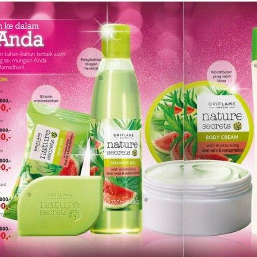 Mandi segar dengan pure nature by #oriflame dari sabun sampai body cream tersedia