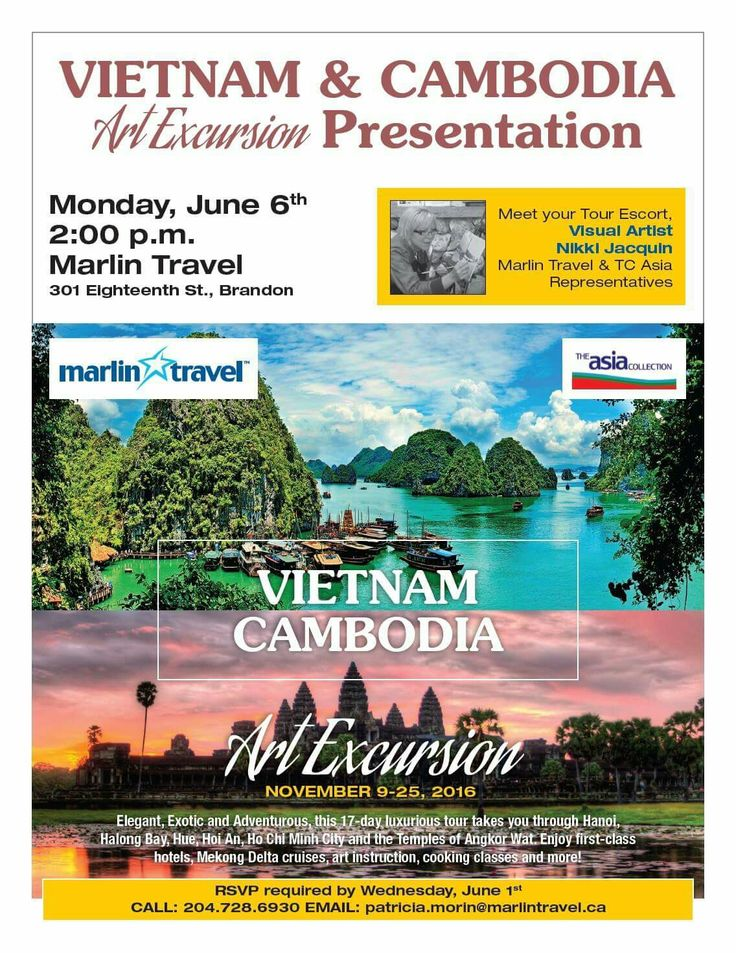 Hope you'll join me at this #Brandon information night. We will be talking about #travel and #painting in this very exotic location #Vietnam & #Cambodia.