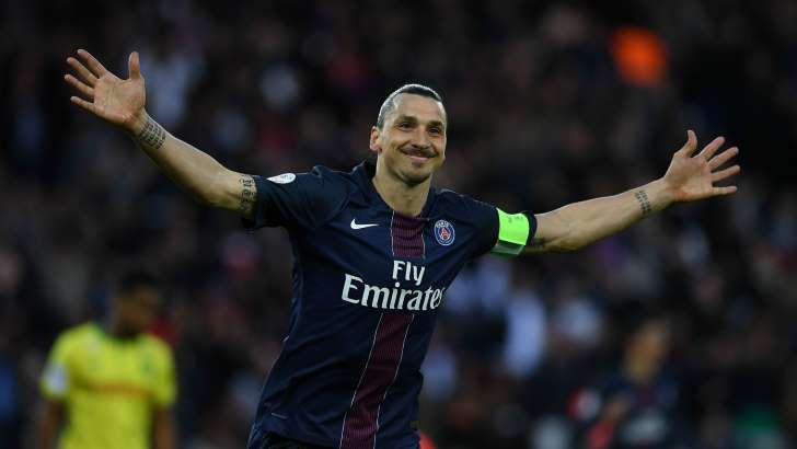 Zlatan Ibrahimovic reached 38 goals for the Ligue 1 season as PSG beat Nantes in the striker's final league match for the champion.