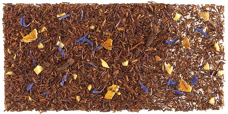 This is from Tea Shop (Barcelona) Rooibos de Navidad  is I think a seasonal blend. I personally love it with honey...