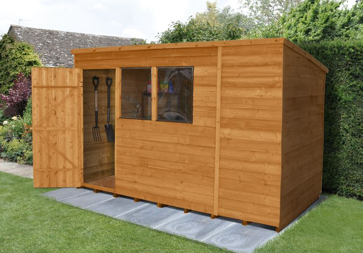 Pent overlap 10x6 shed is a generous size. http://www.wonkeedonkeeforestgarden.co.uk/forest-odp106hd-pent-overlap-dipped-6x10-hd.html
