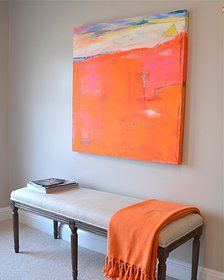 kerri rosenthal art - I need to paint myself a big canvas with bold colors like this.
