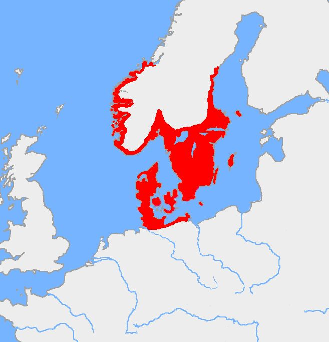 Nordic Bronze Age. The original areas inhabited (during the Bronze Age) by the peoples since known as Scandinavians included what is now Northern Germany (particularly Schleswig-Holstein), all of Denmark, southern Sweden, and the southern coast of Norway.