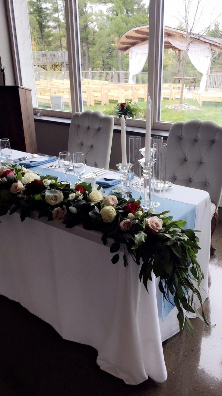 The head table   #brideandgroom