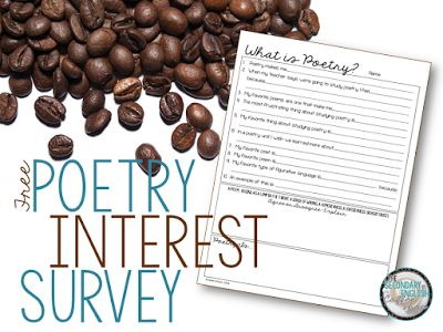 FREE Poetry Interest Survey - Start off a poetry unit on the right foot!