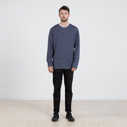 Sweater in Navy Marle #dorsu #autumncollection #newcollection #menswear #fashion #basics #fashionessentials #cotton #ethicalfashion #tee #ethical #fair #wellmade #quality #comfort #black #minimal #modern #longsleeve #tshirt #winter17 #winter #aperfectday #perfectday #t-shirt #tshirt #simple #sweater #navy #marle #monochrome #basic