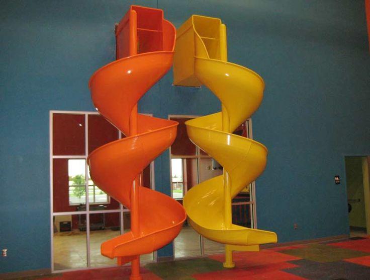 17 best images about slides slides slides on pinterest for Indoor play slide