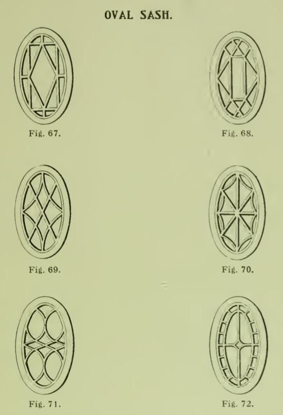 Fancy oval sash windows from 1904 Rockwell Millwork catalog.