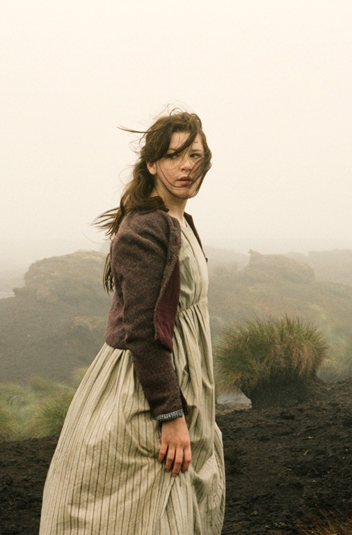 Shannon Beer as Young Catherine Earnshaw in Wuthering Heights (2011).