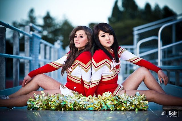 Still Light Studios: cheerleading gallery Just add the letters that say seniors in front of the two girls and its perfect!! (: