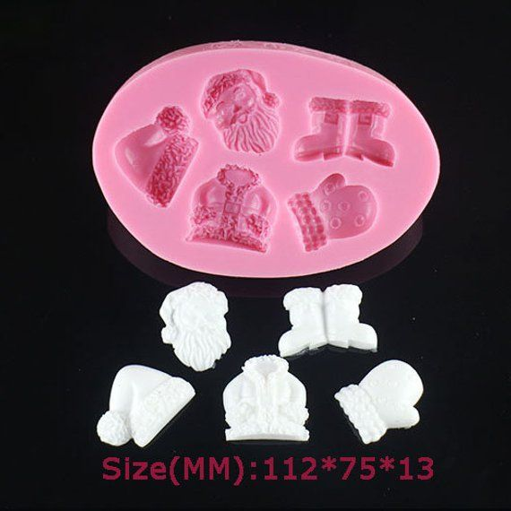 Santa hat, shoes, costume kit Silicone Mold Making DIY