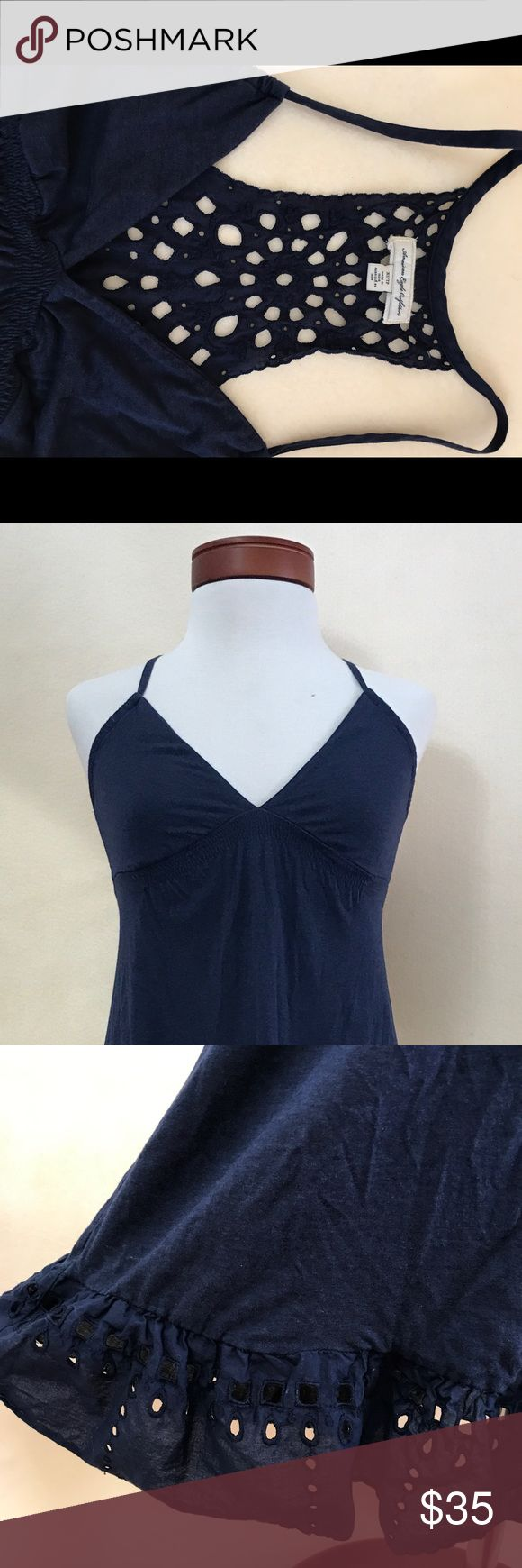 American Eagle Outfitters Blue summer dress Very cute XS summer dress or swimsuit cover. American Eagle Outfitters Dresses Backless #americaneagleoutfitters