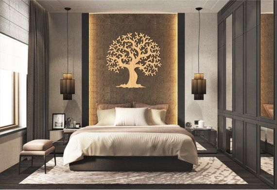 Tree Wall Hanging Wall Decor Decal Wall Vinyl Tree Patterns Laser Cnc Router Templates Master Bedroom Design Master Bedrooms Decor Luxury Bedroom Design