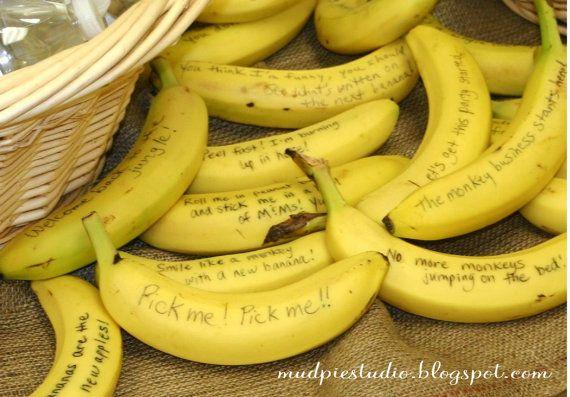 Teacher Appreciation Day! Thanks a Bunch!! - sayings written on banana skins.