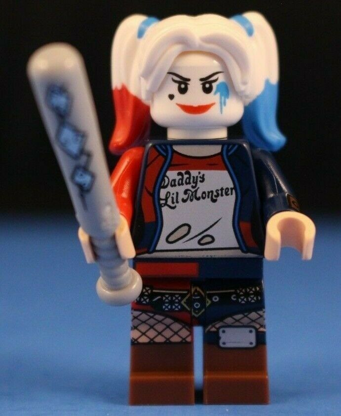AUTHENTIC LEGO Super Heroes Harley Quinn MiniFigure Red /& Blue Set 76053