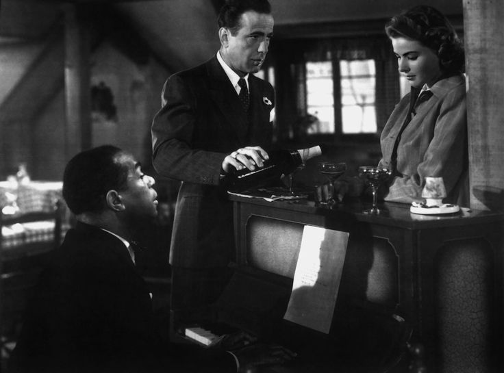 """""""Casablanca"""" (1942) The film was based on Murray Burnett and Joan Alison's unproduced play """"Everybody Comes to Rick's"""" and was shot  in the studio,"""