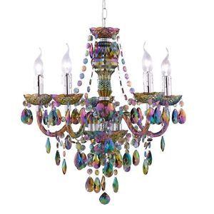 Kronleuchter Bunt Kinder Zimmer Hänge Beleuchtung Durchmesser 55 Cm Pendel  Lampe
