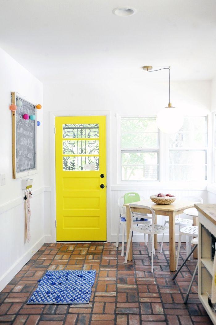 ▷ 1001 + idées originales comment peindre une porte intérieure - Comment Peindre Du Carrelage De Cuisine