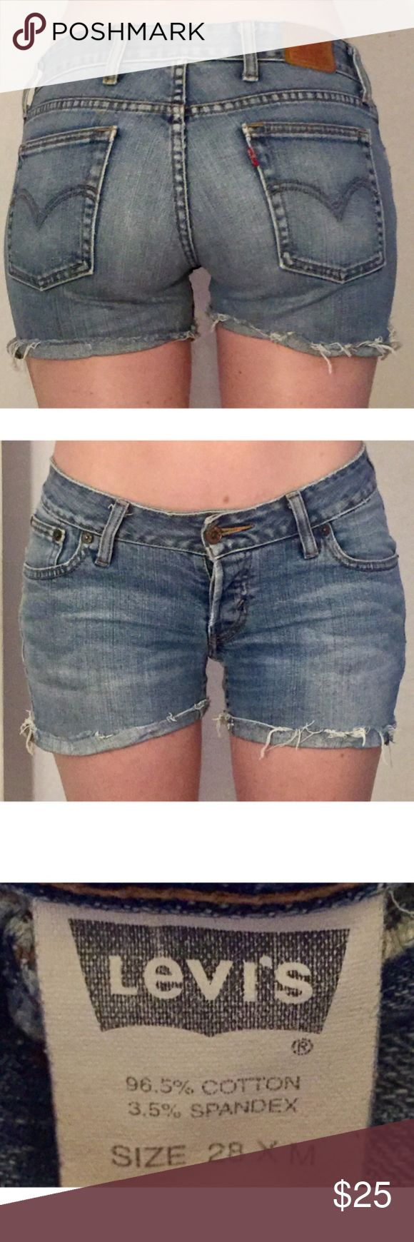 Levi's cutoff jean shorts Levi's cutoff jean shorts Levi's Shorts Jean Shorts
