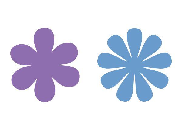 6 and 9 petal flower svg files | Svg files | Flower svg, Flower template