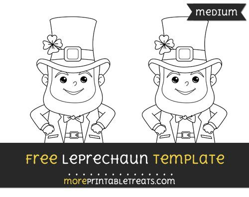 Free Leprechaun Template - Medium | Shapes and Templates Printables ...