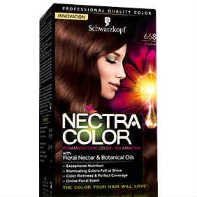 Schwarzkopf Nectra Color Βαφή Μαλλιών 6-68 Ξανθό Σκούρο Σοκολατί 60ml