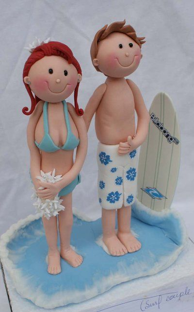 Surf Couple Figurine Close-up by ~Verusca on deviantART