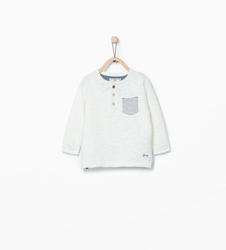 Contrast pocket sweater from Zara