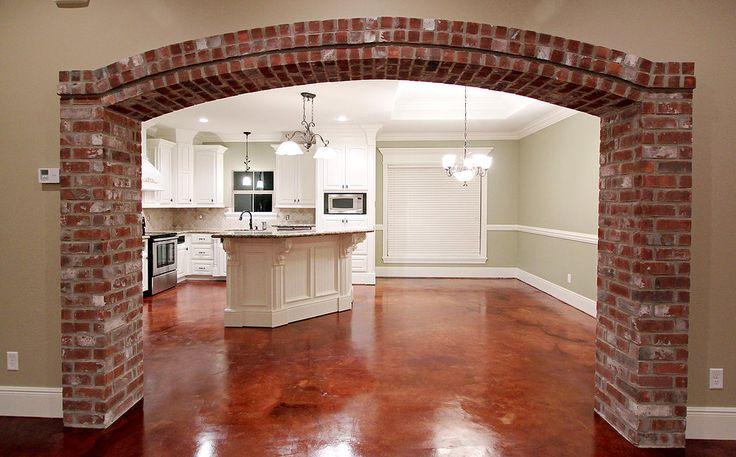 Love the brick archway  Beautiful Home Decor  Brick