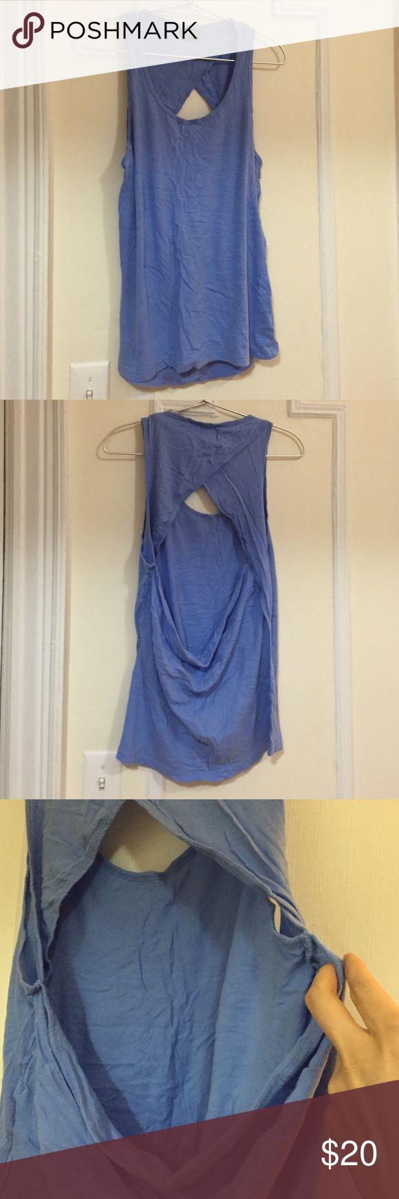 ❗️SALE❗️Cheap Monday vest very cute open back design. light blue color. Cheap Monday Tops