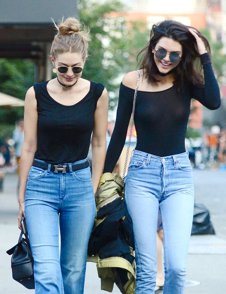 Kendall Jenner and Gigi Hadid wore matching Model Off-Duty looks on the street in NYC.
