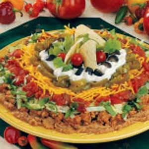 Mexican Fiesta Dip...savory dip made with ground turkey: Mexican Salad, Parties, Mexican Food, Mexican Dip, Food Dips, Mexican Party, Mexican Fiesta, Fiesta Dip